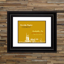 Baby Birth Stats Print - Nashville - 8x10 in. on premium matte archival paper. frame not included. customizable color.