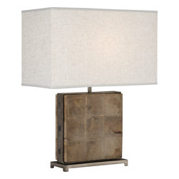 Robert Abbey - Oliver Table Lamp - Bring natural elements of the outdoors into your decor. This unique table lamp combines the organic richness of the unfinished mango wood with the clean lines of modern design. The result is a perfect balance of rustic-chic.