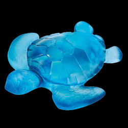 Daum Crystal - Daum Crystal Turtle Mini Blue 02690-5 - Daum Crystal Turtle Mini Blue * FULLY AUTHORIZED DAUM DEALER * Size: 2.5 inches tall * Made By Hand In France * Kiln Fired For 10 Days * Every piece is unique, no two Daum crystals are exactly alike. * Since 1878 Daum Crystal has been the ultimate in luxury.