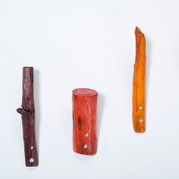 Driftwood Wall Hook - I think you'll agree, Kiel Mead's driftwood wall hooks in a rainbow of colors are pretty unexpected. They are the perfect summer style boost.
