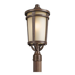 Kichler Lighting 49074BST Atwood Brown Stone Outdoor Post Light - Kichler Lighting 49074BST Atwood Brown Stone Outdoor Post Light*Number of Bulbs: 1*Bulb Type: 150W Medium*Collection: Atwood*Glass/Shade: Satin Etched*Weight: 9