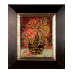 Uttermost - Uttermost 33439 Floral Bunda - Uttermost 33439 Grace Feyock Floral Bunda Wall ArtThis oil reproduction features a hand applied dabb finish. The wood frame has a distressed black finish with a silver leaf inner lip with gray glaze.Features: