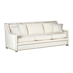 Hardy transitional style Sofa with nailhead trim - From the Gabby Tailored Collection of Custom Upholstery, the grand Hardy Sofa with nailheads in a classic contemporary design. Wonderful to snuggle up with your loved one. Made in the USA.
