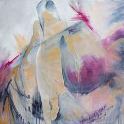 original art - Hope in the Air - This original, one-of-a-kind abstracted figurative painting is ready to hang – no framing required. Sheryl's beautiful artwork can be found in galleries around the country.