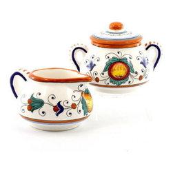 Artistica - Hand Made in Italy - Fruttina: Creamer and Sugar Bowl Set - Fruttina Collection