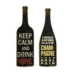 Bottles Wine And Champagne Wall Decor - Set of 2 - *The Lasalle Wine and Champagne Wall Decor expounds on the appeal of this vintage flavored wall art.