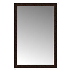 """Posters 2 Prints, LLC - 37"""" x 56"""" Dark Copper Custom Framed Mirror - 37"""" x 56"""" Custom Framed Mirror made by Posters 2 Prints. Standard glass with unrivaled selection of crafted mirror frames.  Protected with category II safety backing to keep glass fragments together should the mirror be accidentally broken.  Safe arrival guaranteed.  Made in the United States of America"""