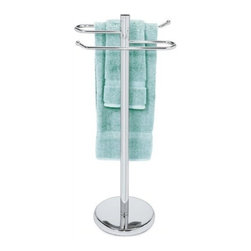 Taymor - Large Towel Valet, Chrome - Taymor's Large Towel Valet is ideal for the guest bath, providing a unique and modern way to display towels.