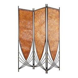 Oriental Furniture - 6 ft. Tall Tropical Philippine Room Divider - This unique Tropical Philippine Room Divider will bring a tropical atmosphere to your home or office. Its art deco free flowing design is extremely versatile and can be flipped upside down for a whole new look. Imported directly from Southeast Asia.