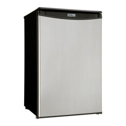 Danby - 4.4 Cu.Ft. Refrigerator-Stainless Steel - -4.4 cu. ft. (124.6 litre) capacity compact refrigerator