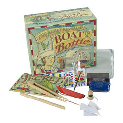 "Kids Boat in a Bottle Kit - The kids boat in a bottle kit measures 5.75 x 4.5 x 2.75"". All the tools and instructions needed to make your very own ship in a bottle..."