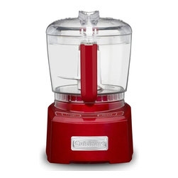 Cuisinart - Cuisinart CH-4MR Elite Collection Metallic Red 4-cup Chopper/ Grinder - The smartpower blade on this Cuisinart chopper/grinder has a patented auto-reversing ability with a sharp edge and a durable blunt edge. The revolutionary bladelock system feature keeps the blade secure during processing and pouring.