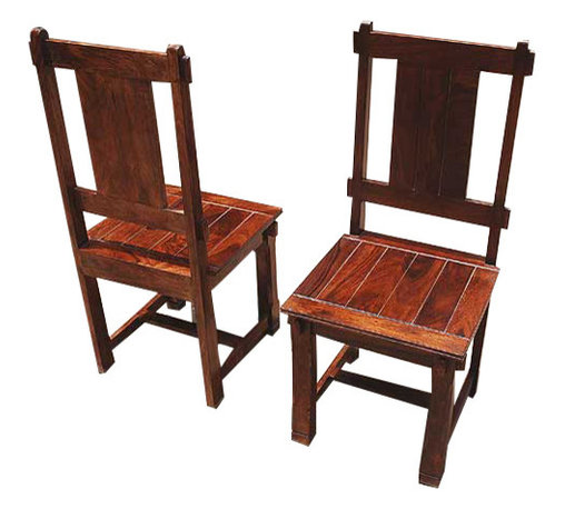 Sierra Living Concepts - Santa Fe Mission Handcrafted Side Dining Chairs Set Of 2 - Santa Fe Mission Handcrafted Side Dining Chairs Set.