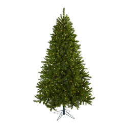 "Nearly Natural - Nearly Natural 7.5' Windermere Christmas Tree with Clear Lights - Elegance personified, and a classic holiday look - that's exactly what this Windermere Christmas Tree brings to your home or office. Standing tall (90"", which is seven and a half feet), and wide (55""), this proud tree has 1285 tips, and 550 clear lights (that stay lit even if one burns out). Ready for decorating (or beautiful on its own), this tree will light your holiday spirit for years to come."