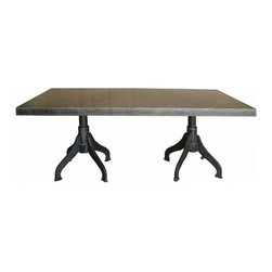 Urban and Reclaimed Furnishings available at Madison McCord Interiors - Urban rustic and reclaimed dining tables and introducing our new zinc top tables!