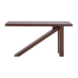 Origami Table - If you need to conserve space, this compact console with foldable legs will do just the job. Not only is it practical, but it's easy on the eyes.
