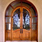 Custom 1/2 Round Entry Door w/ Transom -