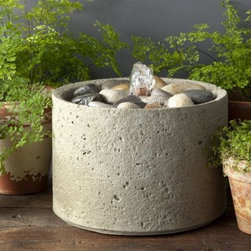 Campania - Pebble Cast Stone Table Fountain -