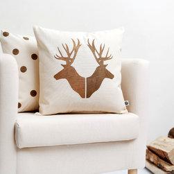 Pillow cover with deer heads - Pillowlink