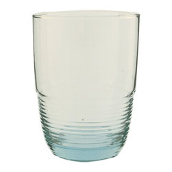 Be Home - Recycled Glass Tumbler, Set Of 6 - Large - Sometimes all you need is a classic tumbler in a perfect shape to show your beverage in its best light. This set of six glasses has ridged bases for extra detail and is made of 100 percent recycled soda bottles so you can drink responsibly.
