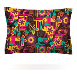 "Kess InHouse - Louise Machado ""Arabesque Floral"" Bright Colorful Pillow Sham (Cotton, 30"" x 20"" - Pairing your already chic duvet cover with playful pillow shams is the perfect way to tie your bedroom together. There are endless possibilities to feed your artistic palette with these imaginative pillow shams. It will looks so elegant you won't want ruin the masterpiece you have created when you go to bed. Not only are these pillow shams nice to look at they are also made from a high quality cotton blend. They are so soft that they will elevate your sleep up to level that is beyond Cloud 9. We always print our goods with the highest quality printing process in order to maintain the integrity of the art that you are adeptly displaying. This means that you won't have to worry about your art fading or your sham loosing it's freshness."