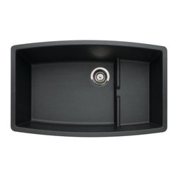Blanco - Undermount Double Kitchen Sink with Undermount Clips - Finish: Anthracite