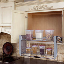 Pull Down Shelves - Pull down shelves are perfect for your high cabinets that would otherwise be hard to reach.