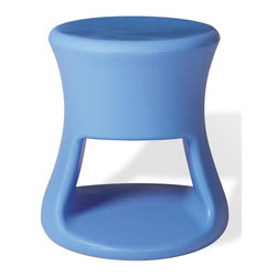 Offi - Modern Molded Plastic Bar Stool/Side Table (Set of 7) (Blue) - Color: Blue. Make your room do more!  Inspired by barware and Tiki mugs from the 1960's this piece can be used as a stool or side table.  A versatile product, great for both adults and kids.  It comes in a fun assortment of colors for adults and children.  Great fun in a kid's room or family area. * This stool's unique organic form was inspired by barware and Tiki mugs from the 1960's.  A versatile product, great for both adults and kids.  Check out the colors!It is perfect as either as a stool or side table - and with storage capacity. . 13.5 in. Dia.