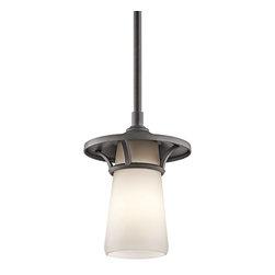 Kichler Lighting - Kichler Lighting 49372AVI Lura Modern / Contemporary Outdoor Pendant Light - Kichler Lighting 49372AVI Lura Modern / Contemporary Outdoor Pendant Light