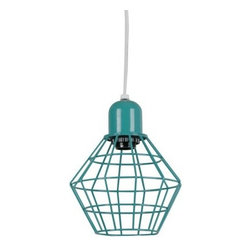 Room Essentials Industrial Pendant, Arcade Green - I love the edgy, industrial look of this pendant. I could see it hanging in a laundry room.
