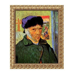 "Self Portrait with Bandaged Ear, 1889 Canvas Wall Art by Vincent van Gogh - 20W - About Amanti ArtAmanti Art, derived from the Italian way to say """"art lovers,"""" has the simple goal of creating an effective way to bring the love of art into everyone's homes. The company offers beautifully crafted frames and top-notch prints at an inexpensive price and with the highest convenience."