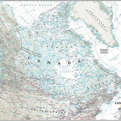 Magic Murals - Classic Canada Map Wall Mural  -- Self-Adhesive Wallpaper in Various Sizes by Ma - Country of Canada as a classic map. Artwork. National Geographic Collection / NG Maps 2011.