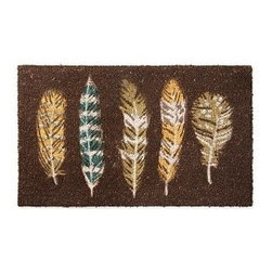 Floating Feathers Doormat - Don't forget your outdoor spaces when changing things up for the season. This doormat perfectly welcomes guests, just when they want to come inside and warm up.