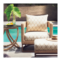 Patio + Outdoor - Both chic and classic, the Aviano Chair is sure to be the perfect addition to your poolside and summer.