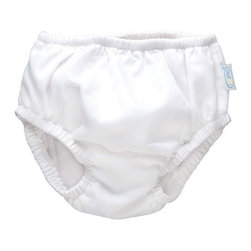 """i play - Ultimate Swim Diaper in White - Features: -Available in 6 Month, 12 Month, 18 Month, 24 Month, 3 Year or 4 Year. -Microfiber with coated poly, cotton terry and poly wick away lining. -UPF 50+, patented. -Waterproof outer layer, extra absorbent inner layer and wick away lining next to baby's skin. -Snug-fitting around legs and waist. Specifications: -6 Month dimensions: 6.75"""" - 10.75"""" H x 7.75"""" W x 0.25"""" D. -12 Month dimensions: 6.75"""" - 10.75"""" H x 7.88"""" W x 0.25"""" D. -18 Month dimensions: 6.75"""" - 10.75"""" H x 8"""" W x 0.25"""" D. -24 Month dimensions: 7.5"""" - 11.75"""" H x 8.25"""" W x 0.25"""" D. -3 Year dimensions: 8"""" - 12.25"""" H x 8.25"""" W x 0.25"""" D. -4 Year dimensions: 8.5"""" - 12.75"""" H x 8.25"""" W x 0.25"""" D."""
