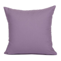 "Blooming Home Decor - Solid Purple Accent / Throw Pillow Cover - (Available in 16""x16"", 20""x20"", 12""x18"")"