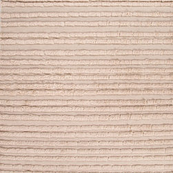 Notion NON05 Rug - 2'x3' - A combination of flat-weave and shaggy pile gives defines this dimensional rug. Modern and eclectic this rug makes a statement in any room.