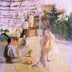 """Robert Frederick Blum Japanese Tea Party - 16"""" x 24"""" Premium Archival Print - 16"""" x 24"""" Robert Frederick Blum Japanese Tea Party premium archival print reproduced to meet museum quality standards. Our museum quality archival prints are produced using high-precision print technology for a more accurate reproduction printed on high quality, heavyweight matte presentation paper with fade-resistant, archival inks. Our progressive business model allows us to offer works of art to you at the best wholesale pricing, significantly less than art gallery prices, affordable to all. This line of artwork is produced with extra white border space (if you choose to have it framed, for your framer to work with to frame properly or utilize a larger mat and/or frame).  We present a comprehensive collection of exceptional art reproductions byRobert Frederick Blum."""