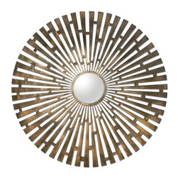 Uttermost - Uttermost 12846 Tremeca Brass Starburst Mirror - Uttermost 12846 Tremeca Brass Starburst MirrorHand forged metal finished in plated, brushed brass with light antiquing and a center convex mirror.Uttermost 12846 Features: