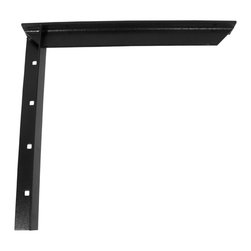 "CounterBalance - Concealed Bracket - Hidden Countertop Support, Black, 9 - The CounterBalance Concealed Bracket provides secure installs to support stone and solid surface countertops on handicap accessible vanities, and other ""floating"" work surfaces. The vertical portion of the bracket is concealed behind the dry wall leaving the installed bracket virtually invisible when viewed from above. The Concealed Bracket is designed to attach to load-bearing studs. The Concealed Bracket can support an overhang extending 6˝ beyond the length of the bracket as per industry standard recommendations. These products are available in many useful sizes and come in a variety of colors to match your surface."