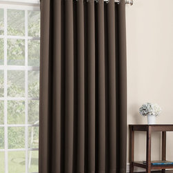 Sun Zero - Chocolate Mercer Blackout Patio Panel - Filter light, reduce noise and even insulate your home with this curtain panel that offers both function and essential style. Its grommet construction prevents snags and makes installation a breeze.   Includes one panel Grommet Woven 100% polyester Machine wash Imported