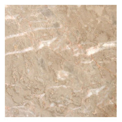 "Crema Luna Polished Marble Floor or Wall Tiles - Lot of 100 Tiles - 12"" x 12"" Crema Luna Polished Marble Tiles for Bathroom Floor, Kitchen Floors, and Living Room Floor."