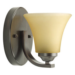 Progress Lighting - Progress Lighting P2008-20 Adorn Single Light Wall Sconce Antique Bronze - Features:
