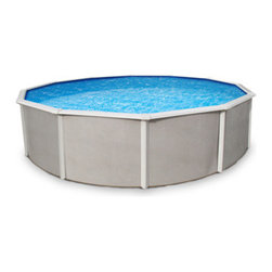 Blue Wave - Blue Wave Belize Round 52 Inch Steel Pool - 27 ft - Features: