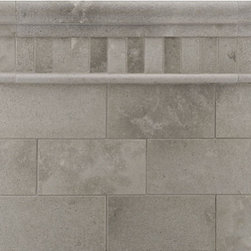 Pewter Stone Tile -  Ann Sacks Tile & Stone - This stone is an absolutely perfect warm gray tone - not too cold and not too warm..works beautifully as a floor tile or a wall tile.