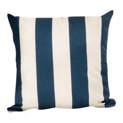 HRh Designs - 20X20 Indoor/Outdoor Throw Pillows, Navy - 20X20 Indoor/Outdoor Cabana Throw Pillows