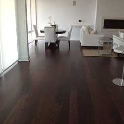 M&D CONSTRUCTION - Custom Milled 5 inch African Wenge Floor in Beautiful Jersey Shore Contemporary.