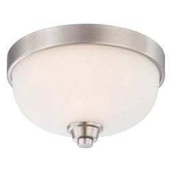 Nuvo Lighting - Nuvo Lighting 60-4191 Helium 1-Light Flush Dome Fixture with Satin White Glass - Nuvo Lighting 60-4191 Helium 1-Light Flush Dome Fixture with Satin White Glass