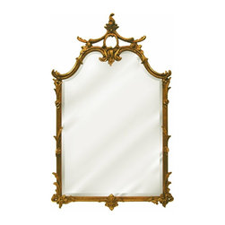 Hickory Manor House - Chauncy Mirror in Antique Gold Finish - Vintage original. Custom made by artisans unfortunately no returns allowed. Enhance your decor with this graceful mirror. Made in the USA. Made of pecan shell resin. 25.5 in. W x 42 in. H (25 lbs.)
