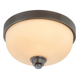 Nuvo Lighting - Nuvo Lighting 60-4211 Helium 1-Light Flush Dome Fixture with Cream Beige Glass - Nuvo Lighting 60-4211 Helium 1-Light Flush Dome Fixture with Cream Beige Glass